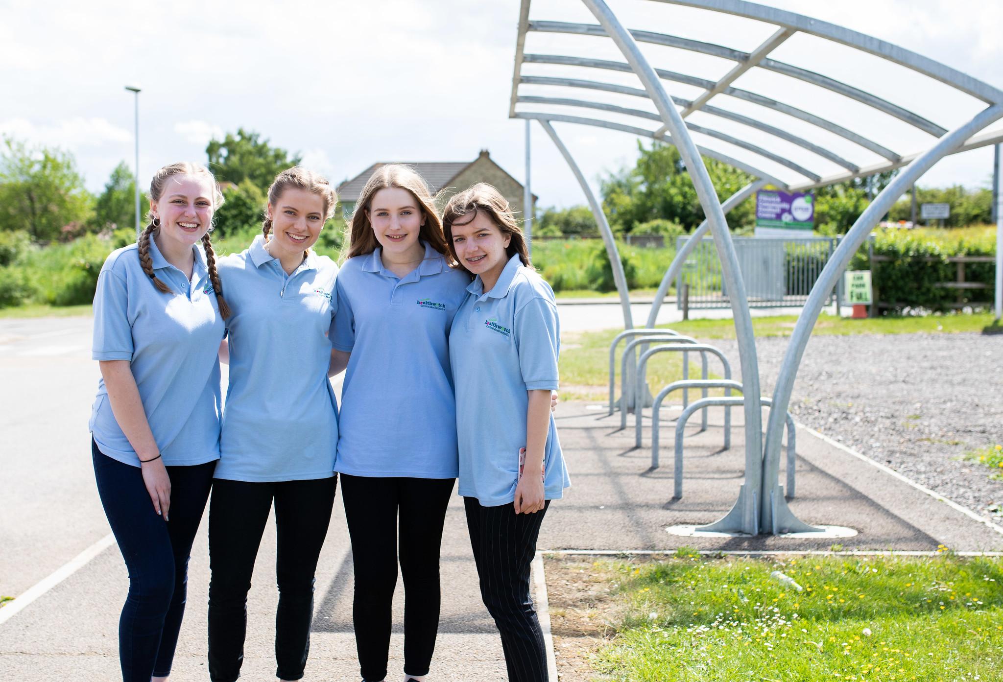 Four young girls wearing Healthwatch tshirts