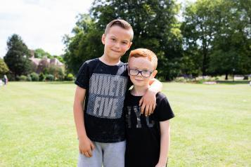 iimage showing two young boys standing together