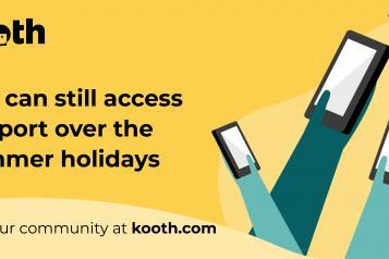 Kooth summer holiday image