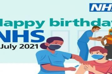 NHS Happy 73rd Birthday image