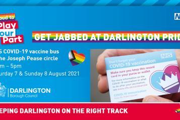 Get jabbed at Darlington pride image
